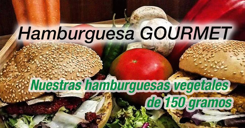 Hamburguesas Gourmet. Nuestras hamburguesas vegetales de 150 gramos